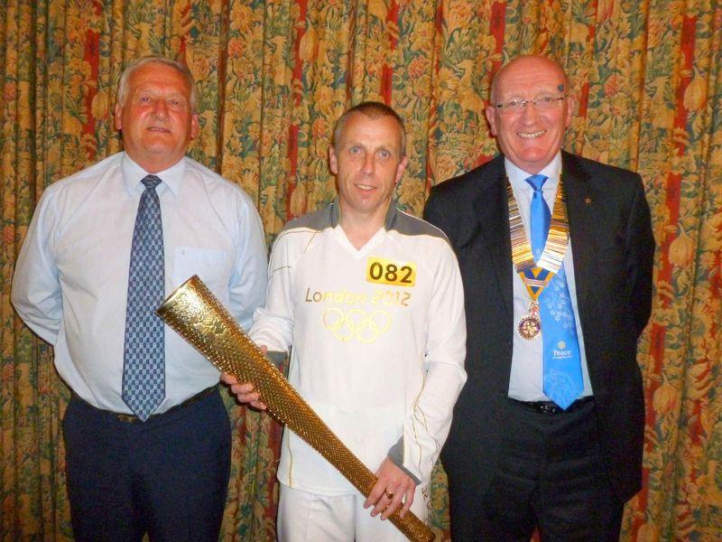 Torch Bearer Gary Bentley at Chadderton & Failsworth Rotary Club
