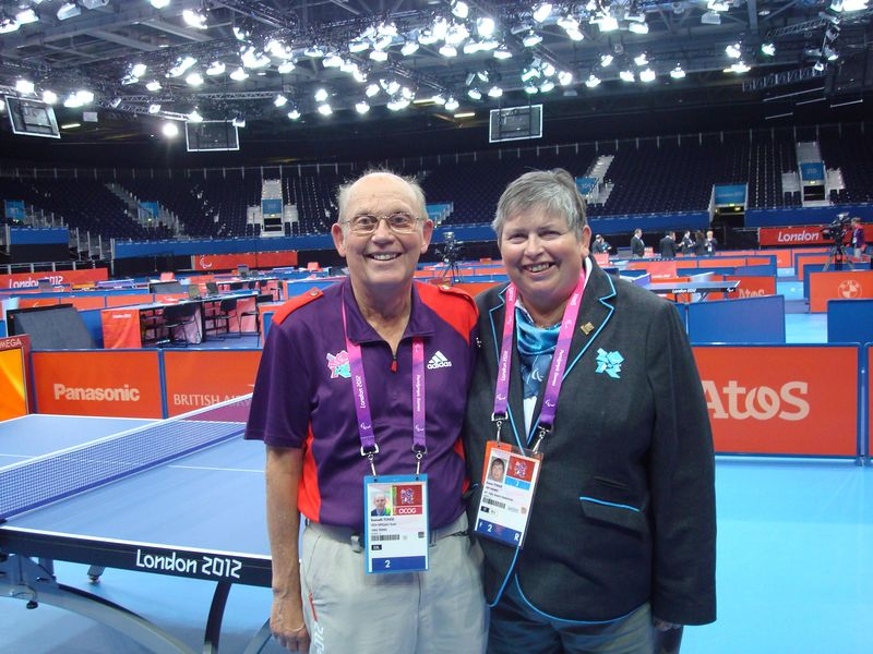 Ken and Karen Tonge at Paralympics