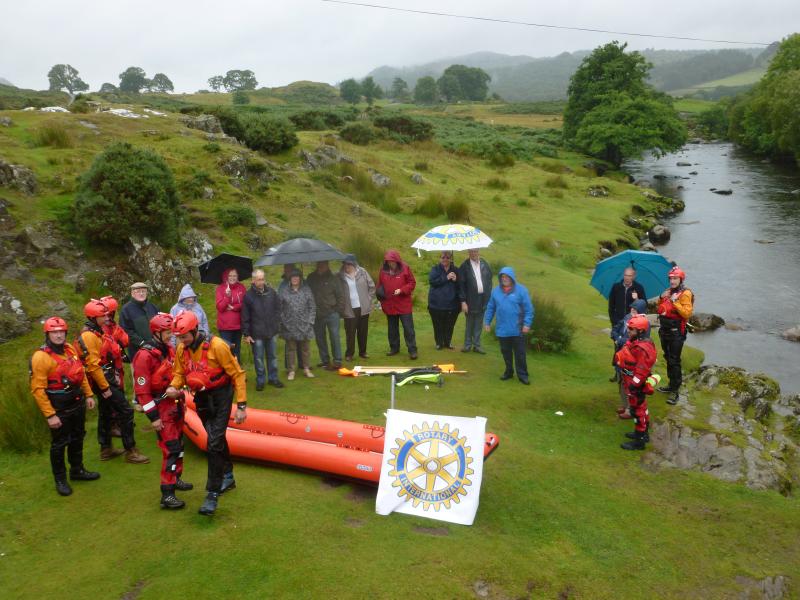 Wigan 7 Duddon Mountain Rescue Rotary Boat Donation
