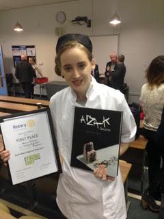 Rebecca from Woodhey School wins RotaryNW Regional Young Chef 2