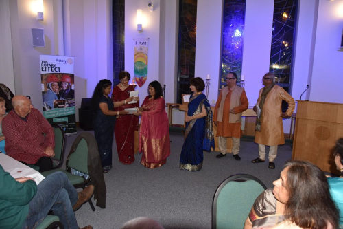 3 new members inducted into Rotary Bolton Lever at Diwali Celebration Oct 2017
