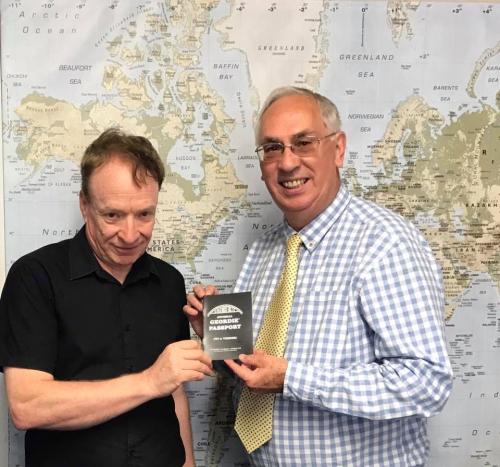 Ken being awarded a Geordie Passport