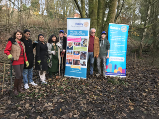 Bolton Lever Rotary Tree Planting with Manchester Trailblazers