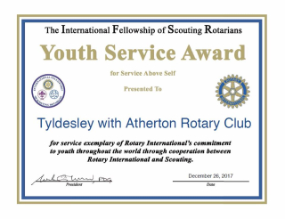 IFSR Tyldesley Rotary Award