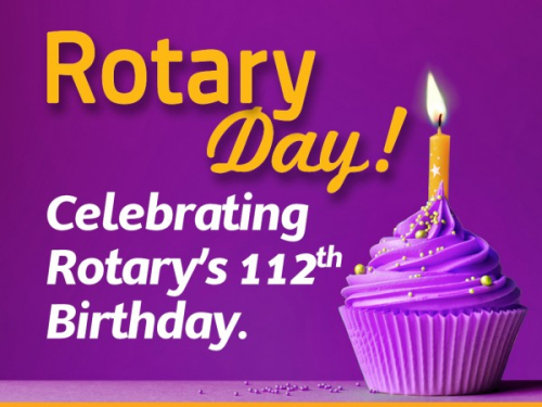 Rotary turning the Isle of Man Purple Rotary in North West England
