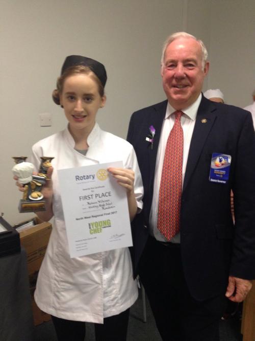 Rebecca from Woodhey School wins RotaryNW Regional Young Chef