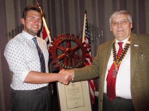 New member Sandbach Rotary