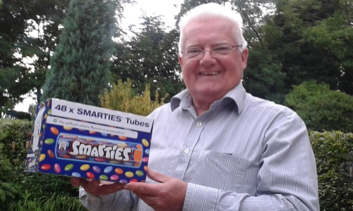 Peter with smarties