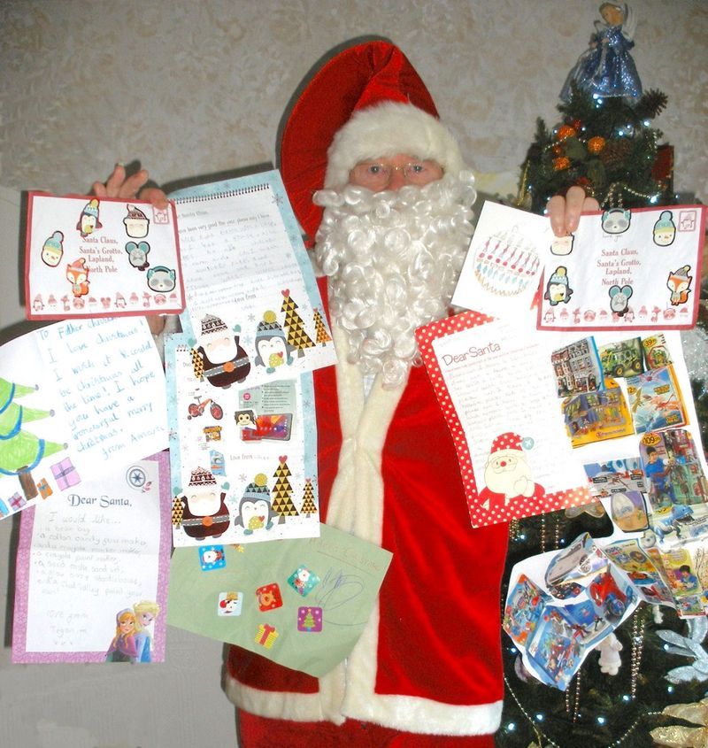 Santa with Childrens Letters
