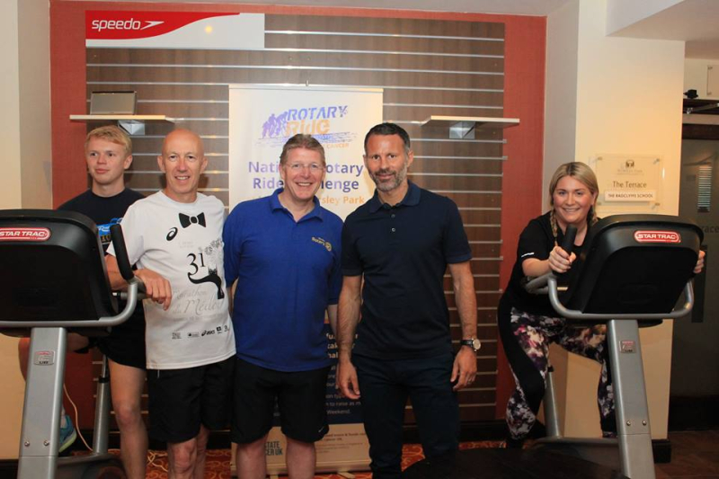 Ryan giggs with worsley rotary ride for prostate cancer research