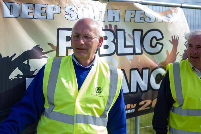 Deep South Festival - July 2016 - Rotary Helps Out on Gate Duty
