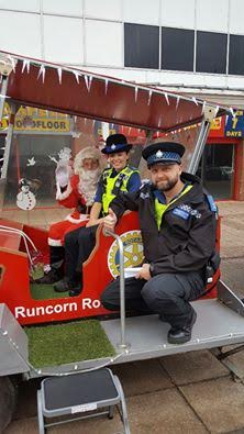 Police with Rotary Runcorn Santa