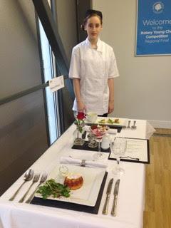 Rebecca from Woodhey School wins RotaryNW Regional Young Chef 1