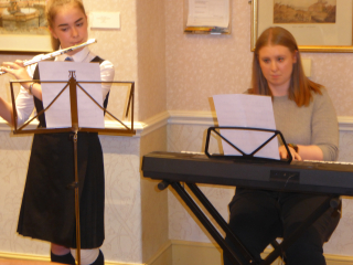 The entertainers Lillie Mai-Scott  and Ms Catherine Cathcart